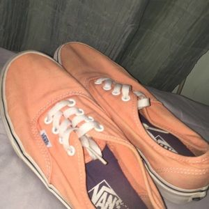 Lace up Salmon Colored Vans